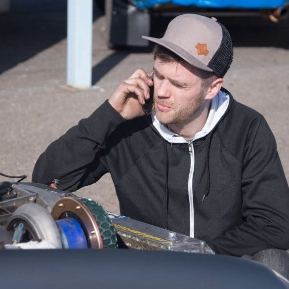 Jesse calling a friend.