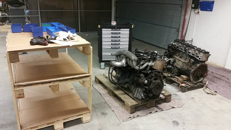Engines ready to be dissembled.