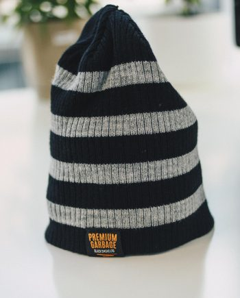 Black smoke beanie winter apparel