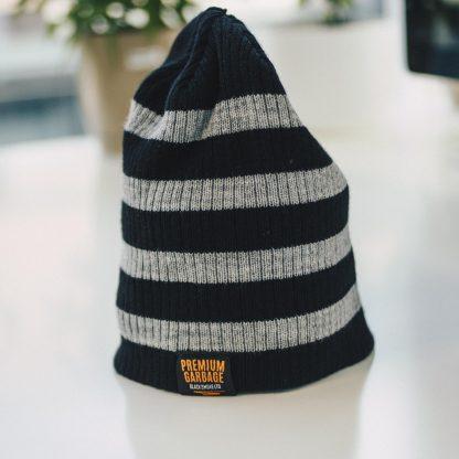 Black smoke beanie winter apparel
