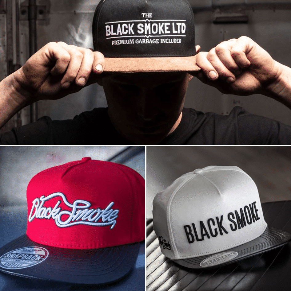snapback sale black smoke