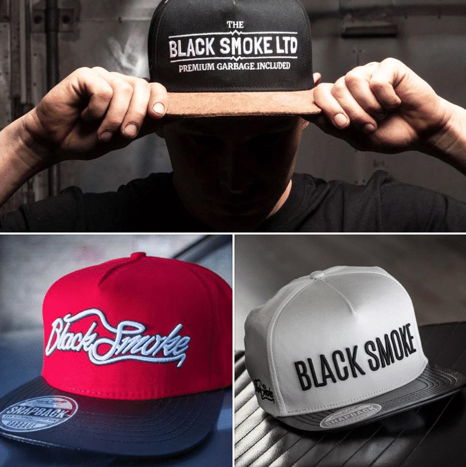 snapback sale black smoke